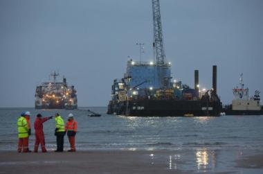 Cable landing (Photo: Chris James)