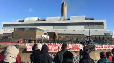 Protest in Aberthaw