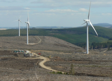 Clashindarroch wind farm in Scotland (Credit: reNews)