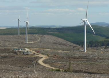 Clashindarroch wind farm in Scotland (Credit: reNews)