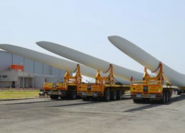 Wind turbine blades (Image: LM Wind)
