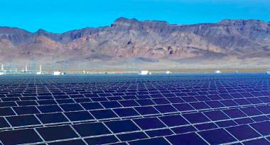 Solar power plant (photo via lbl.gov)