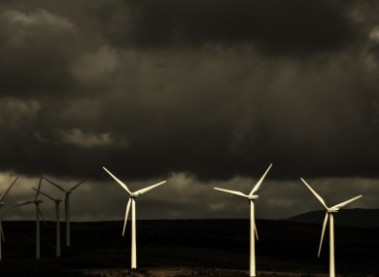 Dark times on a wind farm