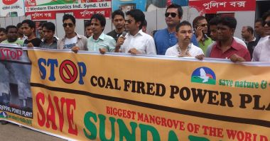 Protesting coal in Bangladesh (Image: Wikimedia Commons)