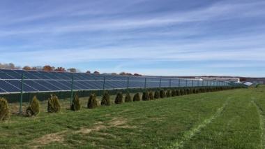 Solar array in Massachusetts