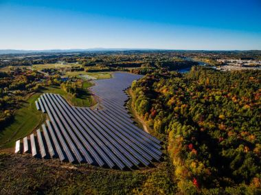 The 4.7-MW solar project in Williston, Vermont (groSolar photo)