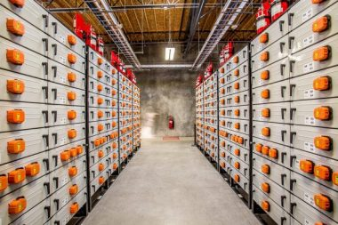 Battery storage array