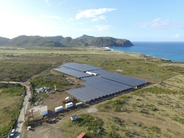 Saint Eustatius solar array