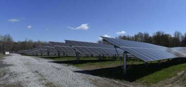 Solar panels in Halfmoon, NY (Skip Dickstein/Times Union)