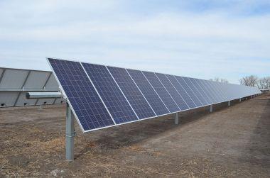 Lexington's solar array (C-H photo, Malena Ward)