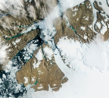 Petermann Glacier (NASA / NOAA / Aqua - MODIS)