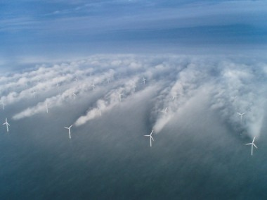Horns Rev wind farm of Danish coast