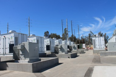 San Diego Gas & Electric's new 30-MW, 120-MWh  battery storage system (Source: POWER / Tom Overton)