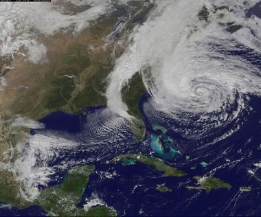 Maybe Sandy would have gone away if NOAA's GOES-13  satellite had not taken a photo. (NASA image, public domain)