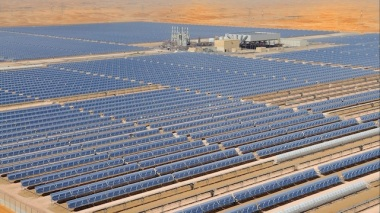 Shams solar power station in Morocco