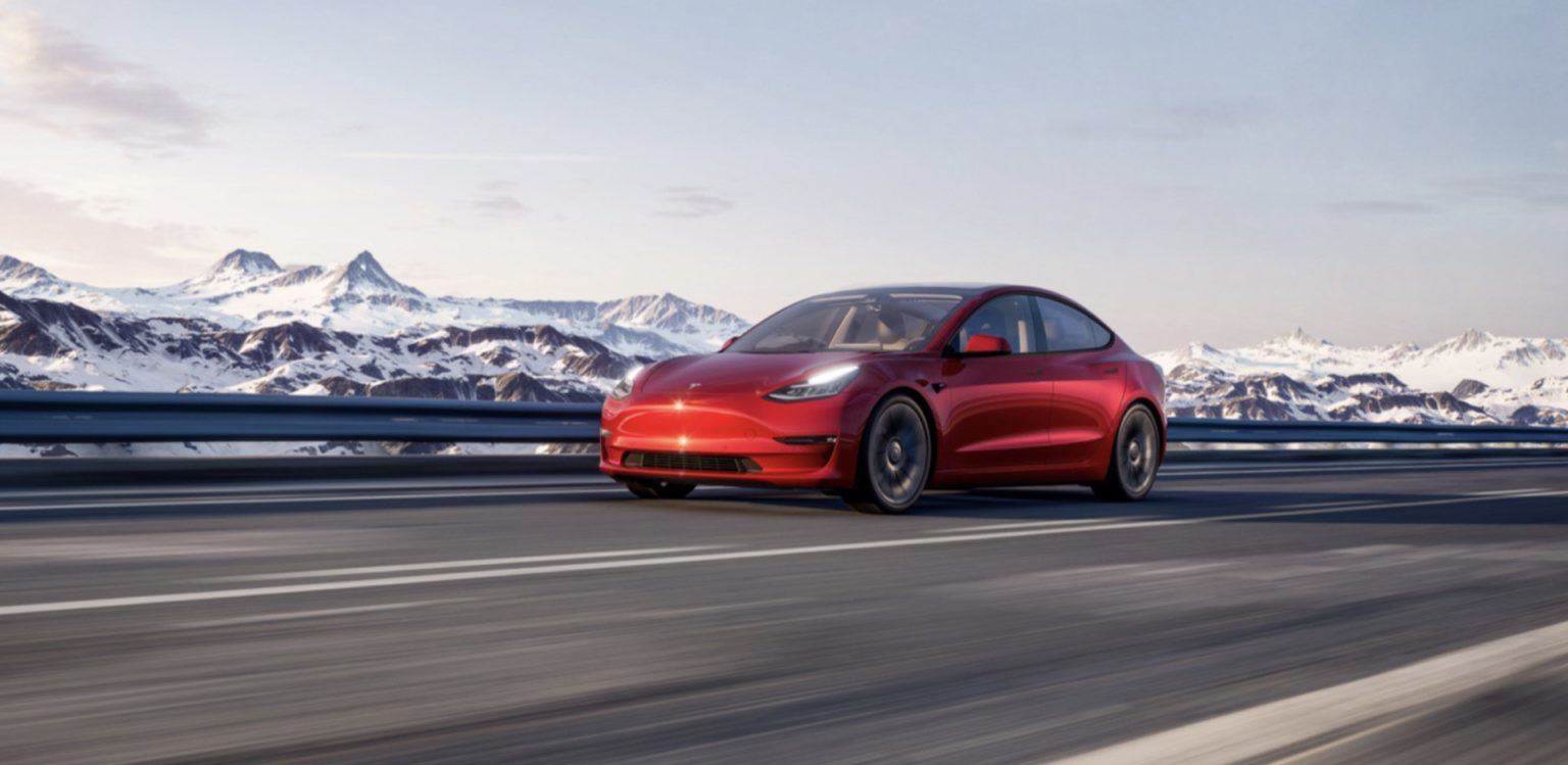 Tesla Model 3 (Image courtesy of Tesla)